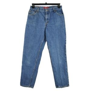 Levis 550 Classic Relaxed Fit Denim Jeans Womens